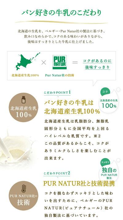 「MilkforBreadパン好きの牛乳」500ml×6本セット