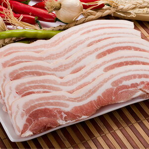 Frozen ▼ ▲ whole skin-on pork belly 'オーギョプサル' 1 kg ■ Korea food ■ Korea cuisine and Korea food materials and meat/pork / BBQ / samgyeopsal/オーギョプサル