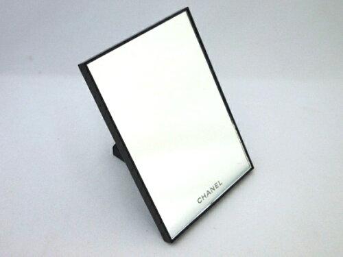 T 2WAYスタンドミラー プラスチック ブラック 手鏡 置き鏡 ...