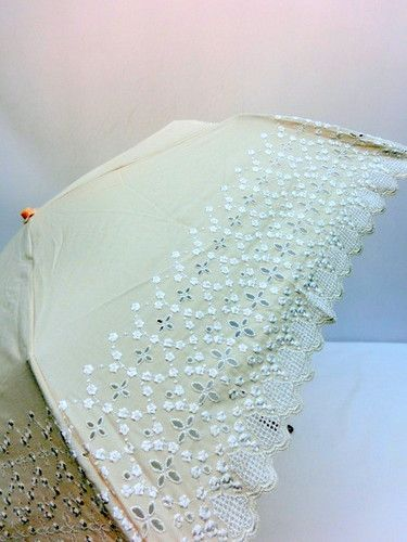 日傘・折畳傘-婦人UVカット99%スカラエンブロ丸ミニ折り畳みパラソル