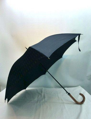 雨傘・長傘−紳士甲州産先染朱子織流星柄軽量大寸日本製ジャンプ傘