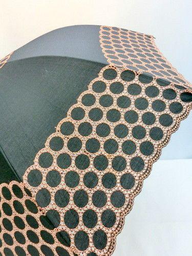 日傘・長傘−婦人クラッシックでエレガントな純パラソルロールレース刺繍
