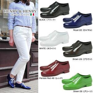 HENRY&HENRYCandyヘンリー&ヘンリーキャンディレースアップシューズレイングッズレインシューズレディース女性用雨靴OXシューズイタリア生産1404sgs