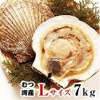 青森県むつ湾産活ほたて Lサイズ 7kg (28枚~35枚)「活ほたて、ホタテ、帆立、ほたて」