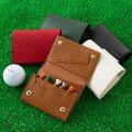 ゴルフティーホルダー2つ折りゴルフ用品小物本革Golfごるふゴルファー革男性女性メンズレディースレザーギフト対応ティーが5本収納可能!!プレゼントお返し敬老の日