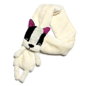 わんこマフラー 動物(アニマル)付き  ぬいぐるみ 防寒 キッズ用