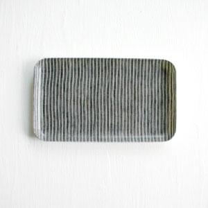 【全色展開中】fog linen work(フォグリネンワーク) リネンコーティングトレイ Sサイズ グレーホワイトストライプ [LXT001S-GYWS]