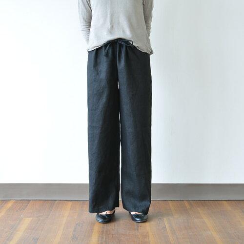 fog linen work(フォグリネンワーク) オワーズ リネンパンツ ブラック [LWW119-17]【ワイドパ...