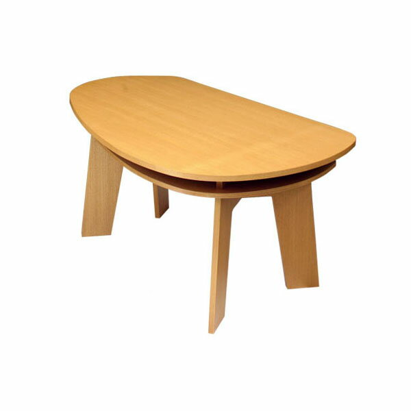収納付き ダイニングテーブル 150 SHUNO(シュノ) タモ【北欧 変形 丸テーブル 日本製 国産】