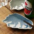 倉敷意匠×kata kata 印判手豆皿 オオカミ【小皿 鍋 取り皿 和食器 おしゃれ かわいい 国産 日本製】