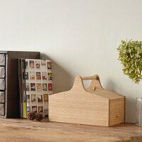 MADEJソーイングボックス(裁縫箱)タモ無垢材【日本製国産オイル仕上げ道具箱シンプルナチュラル北欧】