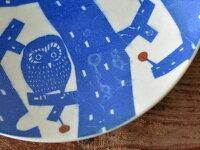 倉敷意匠katakata印判手豆皿オオカミ
