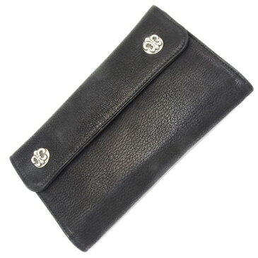 CHROME HEARTS(クロムハーツ)Wave Wallet BK Destroyer BS Fleur Buttons