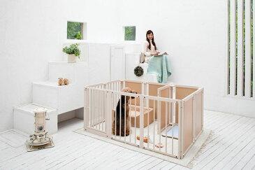 『サークル プラス F 80 XLp』 日本製 木製 ペットサークル 大型犬 サークル サークル 多頭飼い