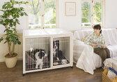 『ペットケージ ハウス BS-B 120』 犬 ケージ 犬 ゲージ 大型 室内 木製 サークル・ケージ サークル・ゲージ キャスター付