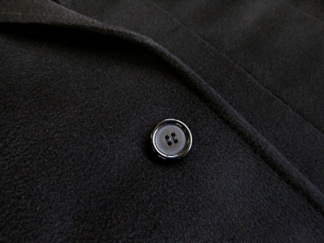 ヒッキーフリーマンメンズコート チェスターフィールド カシミヤ100% ロング ブラック 無地 BB4 BB5 BB6