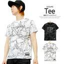 Tシャツ メンズ 大きいサイズ 半袖 総柄 グラフィック ロゴ プリント クルーネック カットソー 半袖Tシャツ 白 黒 プリントTシャツ シャツ サマー ストリート系