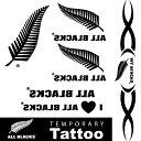 オールブラックス 公式グッズ オフィシャル ライセンスグッズテンポラリー タトゥー ボディーシール サポーターグッズラグビー ニュージーランド ワールドカップ大会 応援グッズ 刺青シール マオリ・・・