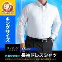 大きいサイズ シャツ・形態安定・長袖ビジネスドレスシャツ【a.v.v HOMME】長袖ワイシャツ・メンズ・Yシャツ・3L 4L 5L ▽(まとめ割/2枚8500円)