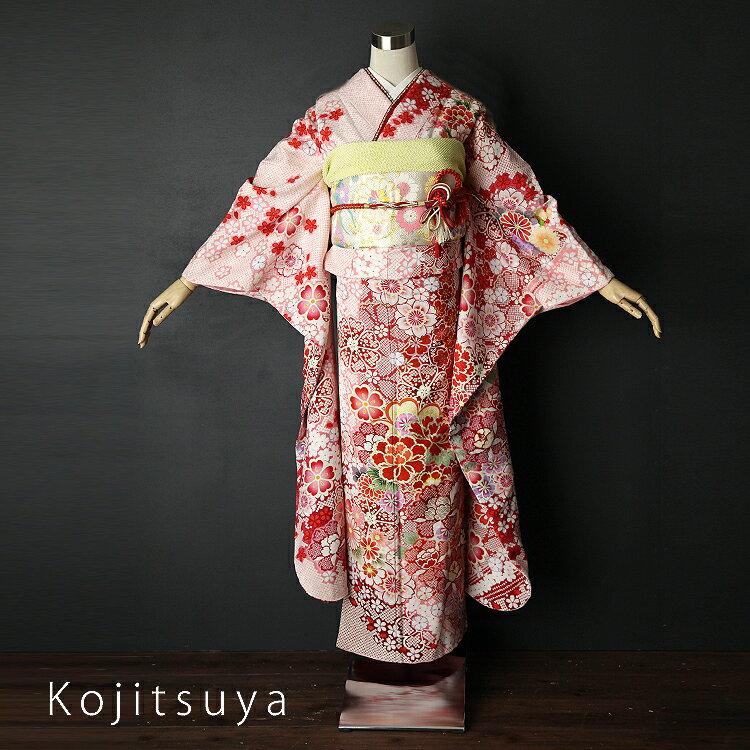 振袖 レンタル フルセット 正絹 着物 【レンタル】 結婚式 成人式 身長155-170cm 白 wh-026