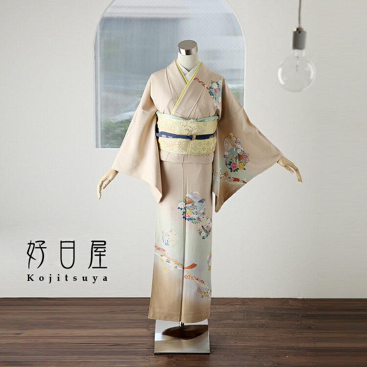 訪問着 レンタル フルセット 正絹 着物 結婚式 卒業式 入学式 七五三 身長150-165cm h-038