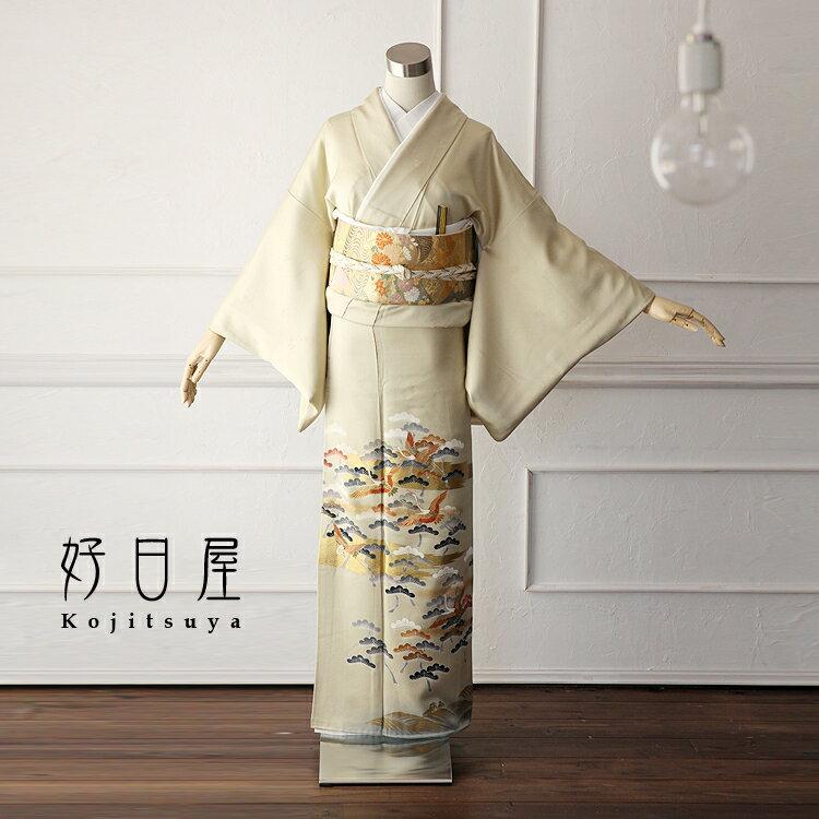 色留袖 レンタル フルセット 正絹 着物 結婚式 身長146-161cm 一つ紋 it-011