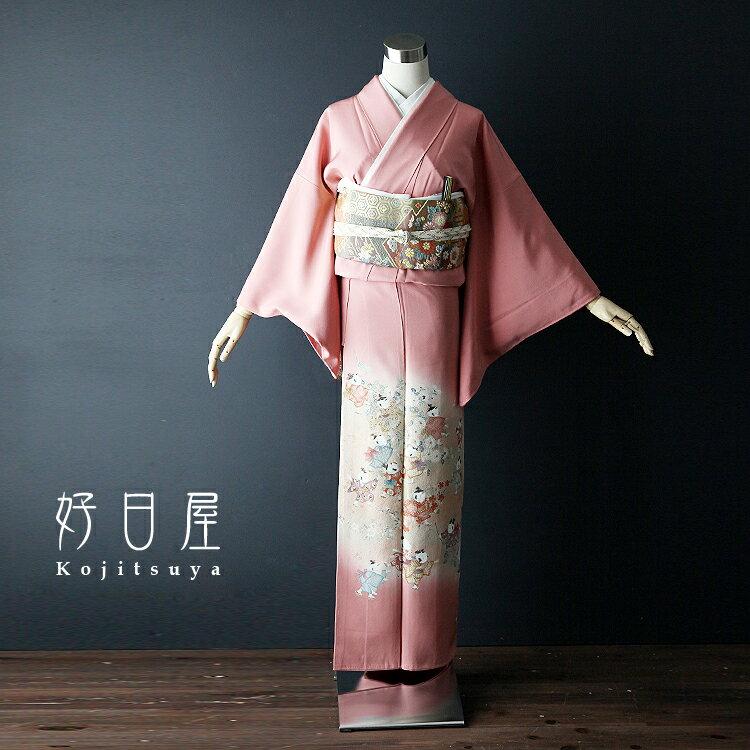 色留袖 レンタル フルセット 正絹 着物 【レンタル】 結婚式 身長144-159cm 一つ紋 it-014