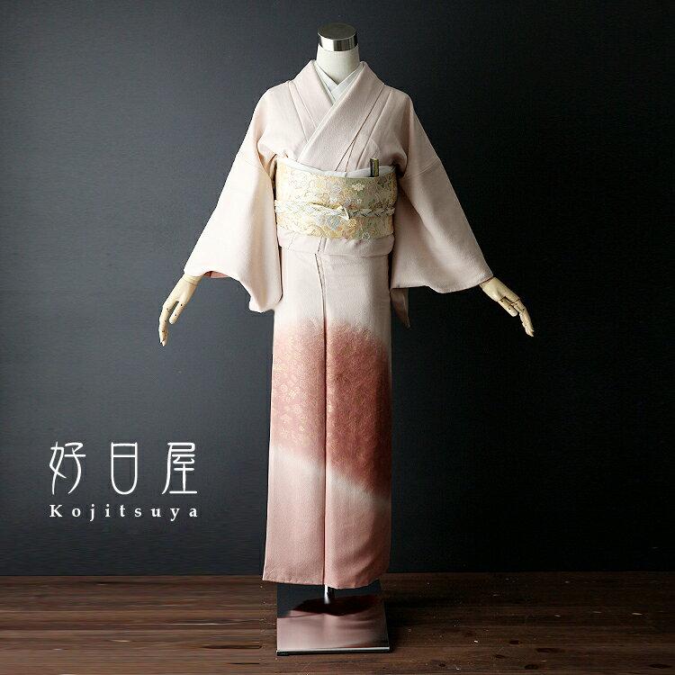 色留袖 レンタル フルセット 正絹 着物 【レンタル】 結婚式 身長145-160cm 一つ紋 it-015