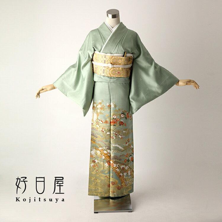 色留袖 レンタル フルセット 正絹 着物 【レンタル】 結婚式 身長151-166cm 一つ紋 it-021