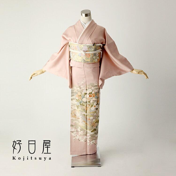 色留袖 レンタル フルセット 正絹 着物 【レンタル】 結婚式 身長147-162cm 一つ紋 it-025
