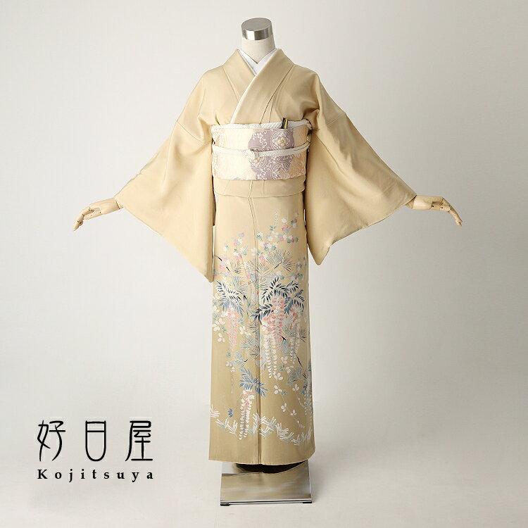色留袖 レンタル フルセット 正絹 着物 【レンタル】 結婚式 身長147-162cm 一つ紋 it-026