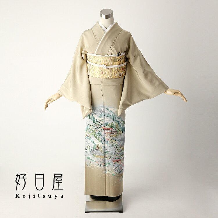 【レンタル】色留袖 フルセット 正絹 適応身長145〜160cm 三つ紋 it-027