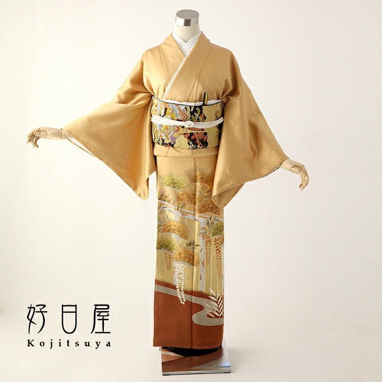 色留袖 レンタル フルセット 正絹 着物 結婚式 身長153-168cm 五つ紋 it-035