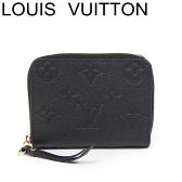 ルイヴィトン ヴィトン コインケース 財布 小銭入れ ジッピーコインパース モノグラム アンプラント 黒 M60574【中古】