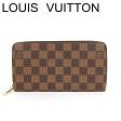 ルイヴィトン ヴィトン 長財布 財布 ジッピーウォレット ダミエ N60015 未使用【中古】