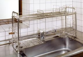 キチンとキッチン収納ラック オプション付 KS-2713おっくうな食器洗いは手際よく済...