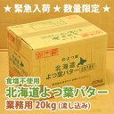 北海道 よつ葉 バター (無塩・食塩不使用) 20kg【送料無料】【よつ葉 業務用 流し込み …