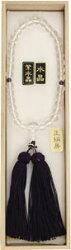【念珠】女物数珠水晶(アメシスト入り)J1102【念誦】【頭房】【天然石】【パワーストーン】【smtb-k】【ky】