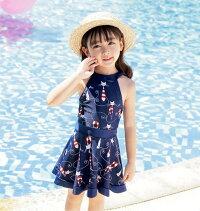 水着水着女の子スイムウェア子供キッズベビースカートこどもビキニジュニア2018夏新作海水浴プール海の日2点上下セット