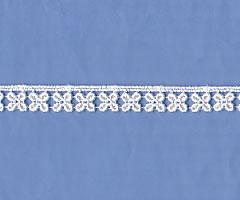 レーヨンケミカルレース(1.1cm巾) ケミカル レース ケミカルレース モチーフ 白 花 四葉 キュート ブラウス スカート ワンピース 生地