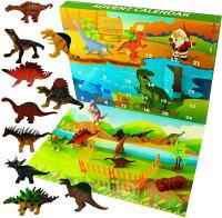 Ogramrアドベントカレンダー(恐竜)全24種類 22種類の恐竜フィギュア&柵&木♪トリケラトプス、ブラキオサウルス、アンキロサウルス、ティラノサウルスレックス、ステゴサウルスなど フィギュア イベント 人形 ごっこ遊び 誕生日 クリスマス かっこいい 男の子 女の子