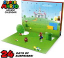 アドベントカレンダー(スーパーマリオ)クリスマスホリデーカレンダー♪17個の約6.3cmのアクションフィ...