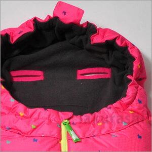 ダウンスリーピングバッグ『Rodyピンクロディードット』RD-BSB0312(フットマフ/ベビーカー/防寒/出産祝い/おくるみ/シュラフ)