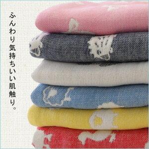fuwara6重織ガーゼケット柄おでかけサイズ50×70cm(出産祝い/赤ちゃん/お祝い/ベビー用/6重/ガーゼ生地/お昼寝/かわいい/綿100%素材/日本製)