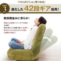 座椅子リクライニング42段ギアポケットコイル