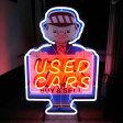 アメリカン ネオンサイン 「USED CARS」 /ネオン管/インテリア・照明 アメ車 修理 ネオン看板 ガレージ アメリカン雑貨 アメリカ雑貨屋 アメ車