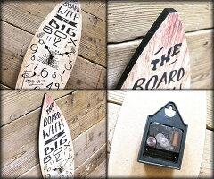 サーフボードウォールクロック/壁掛け時計「SURFBOARD/ウッド」アロハ・マウイ/インテリア/ハワイおしゃれ時計アメリカン雑貨ハワイアン雑貨サーフ