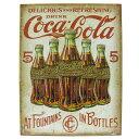 アメリカン ブリキ看板 コカコーラ 5ボトル Coca-Cola(MS 2091)ティンサイン メタルサイン 看板 店舗用 ガレージ ドリンク 雑貨 西海岸風 インテリア アメリカン雑貨