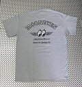 ムーンアイズ Tシャツ 『moon Eyes』 フライ ウイズ ムーン(グレー) 西海岸風 インテリア アメリカン雑貨