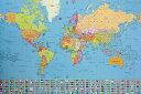 ポスター 世界地図 世界の国旗 61cm x 91.5cm(S 104...